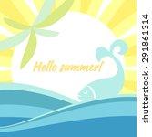 banner invitation summer...
