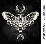 Death's Head Hawk Moth With...