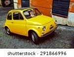 Rome   October 20  Yellow Fiat...