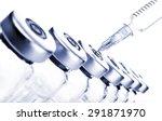 glass medicine vials and botox... | Shutterstock . vector #291871970