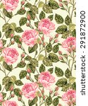Seamless Vintage Roses Pattern...