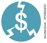 financial crash icon from... | Shutterstock . vector #291882653