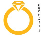 diamond ring icon from commerce ... | Shutterstock .eps vector #291884870