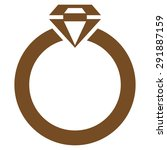 diamond ring icon from commerce ... | Shutterstock .eps vector #291887159