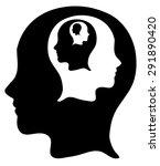 black and white fractal head... | Shutterstock .eps vector #291890420