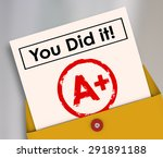 you did it words on a report... | Shutterstock . vector #291891188