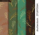 vector floral pattern set ...   Shutterstock .eps vector #291895064