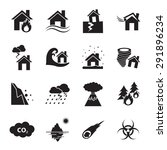 disaster icon   Shutterstock .eps vector #291896234