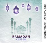 traditional lantern of ramadan  ... | Shutterstock .eps vector #291897530