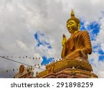 big golden buddha statue in... | Shutterstock . vector #291898259