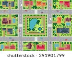 vector village and park view... | Shutterstock .eps vector #291901799