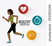 fitness lifestyle design ... | Shutterstock .eps vector #291902240
