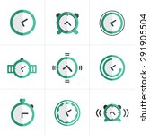 flat icon time clock icons set  ... | Shutterstock .eps vector #291905504