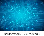 abstract technology circuit... | Shutterstock .eps vector #291909203