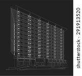 perspective 3d render of... | Shutterstock .eps vector #291913520