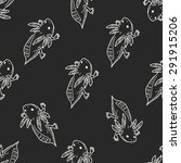 salamander doodle seamless... | Shutterstock . vector #291915206