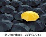 Unique Yellow Umbrella Among...