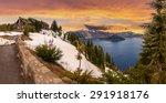 Panoramic View Of Crater Lake...
