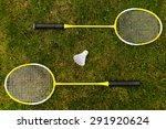 Badminton Rackets On The Green...