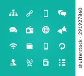 communication icons universal... | Shutterstock . vector #291927860
