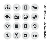 communication icons universal... | Shutterstock . vector #291931004