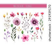 watercolor floral collection... | Shutterstock .eps vector #291939170