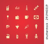 cafe icons universal set for... | Shutterstock . vector #291940319
