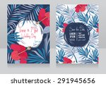 wedding invitations in tropical ... | Shutterstock .eps vector #291945656