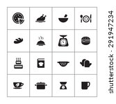 cooking icons universal set for ... | Shutterstock . vector #291947234