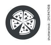 image of pizza in black circle  ...
