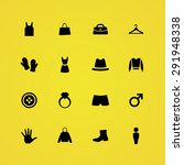 clothes icons universal set for ... | Shutterstock . vector #291948338