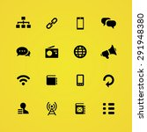communication icons universal... | Shutterstock . vector #291948380