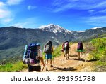 Group Of Hikers In The Mountai...
