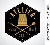 atelier  tailor shop logo... | Shutterstock .eps vector #291952064