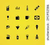 cafe icons universal set for... | Shutterstock . vector #291952586