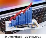 3d rendering of magnifying... | Shutterstock . vector #291952928