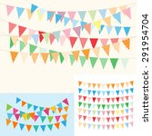 bunting and garlands for... | Shutterstock .eps vector #291954704