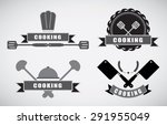 cooking labels set with cooking ...   Shutterstock .eps vector #291955049