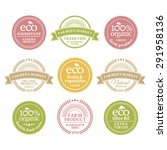 collection of 6 badges in retro ... | Shutterstock .eps vector #291958136