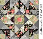 seamless patchwork pattern with ... | Shutterstock .eps vector #291966170