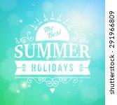 summer holidays enjoy...   Shutterstock .eps vector #291966809