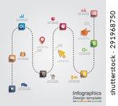 infographic report template...   Shutterstock .eps vector #291968750
