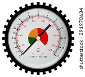manometer for car compressor.... | Shutterstock .eps vector #291970634