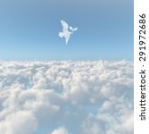 a sea of clouds and bird | Shutterstock . vector #291972686