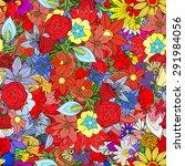 beautiful summer ornate from... | Shutterstock .eps vector #291984056