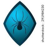 spider silhouette blue diamond... | Shutterstock .eps vector #291984230