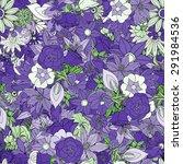 floral seamless pattern... | Shutterstock .eps vector #291984536