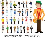 cartoon vector characters of... | Shutterstock .eps vector #291985190