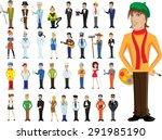 cartoon vector characters of... | Shutterstock .eps vector #291985190