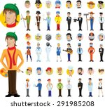 cartoon vector characters of... | Shutterstock .eps vector #291985208
